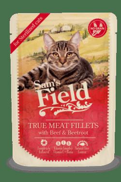 Sams Field Kat True Meat Fillets Oksekød Og Rødbede 85g
